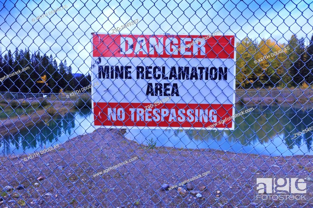 Stock Photo: Duthie Mine reclamation site, near Smithers, British Columbia.