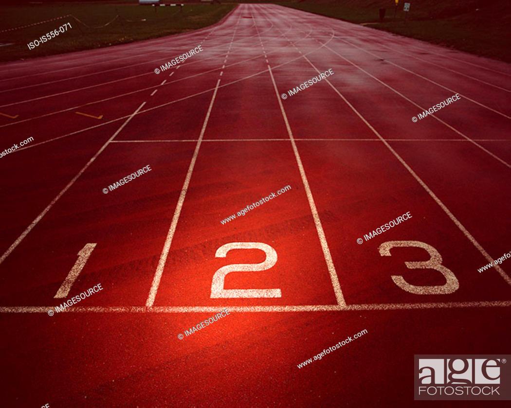 Stock Photo: Empty race track.