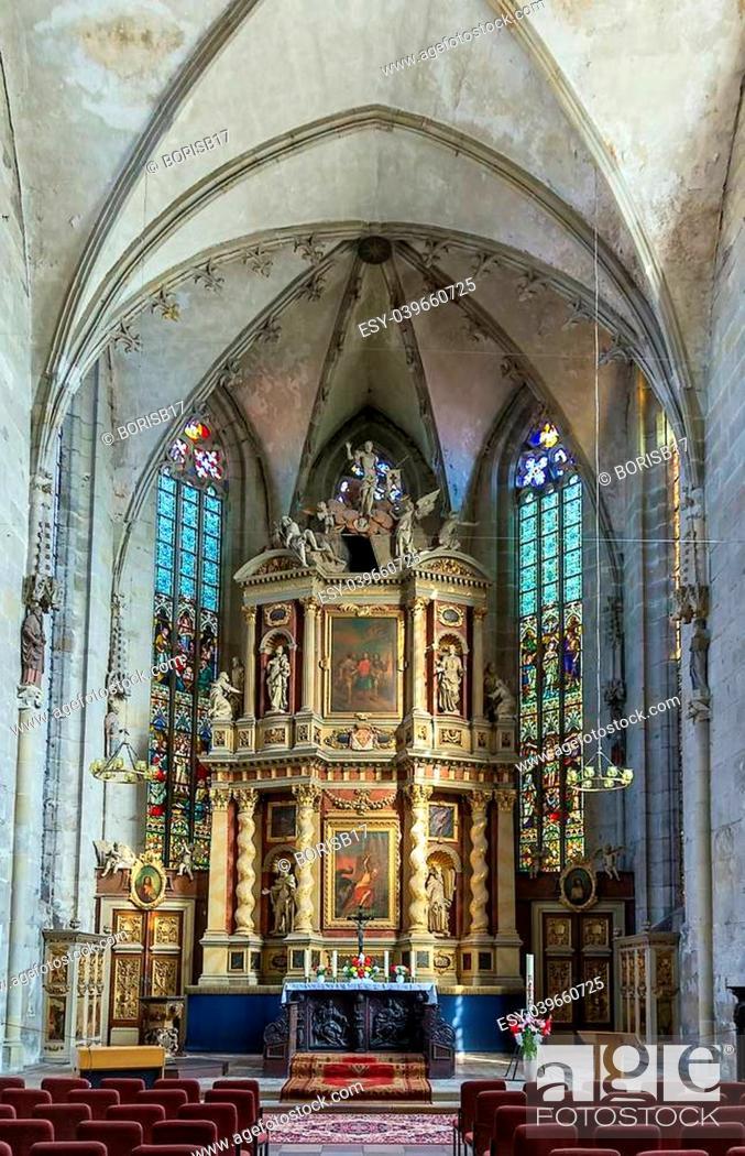 Stock Photo: Interior church Marktkirche in Quedlinburg, Germany.