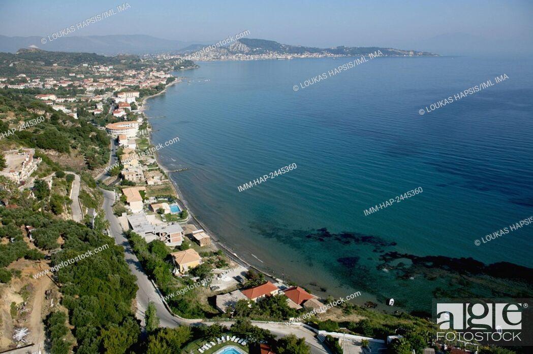 Imagen: South-East aerial view of Zakynthos island, near Argassi. Zakynthos, Ionian Islands, Greece, Europe.