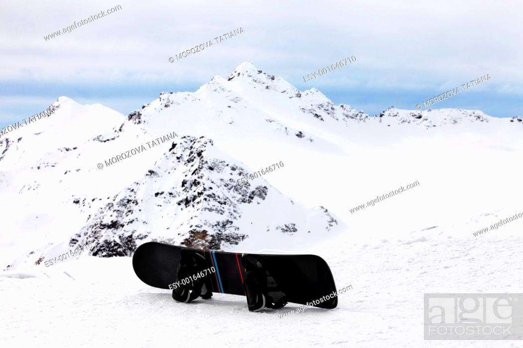 Stock Photo: Snowboard.
