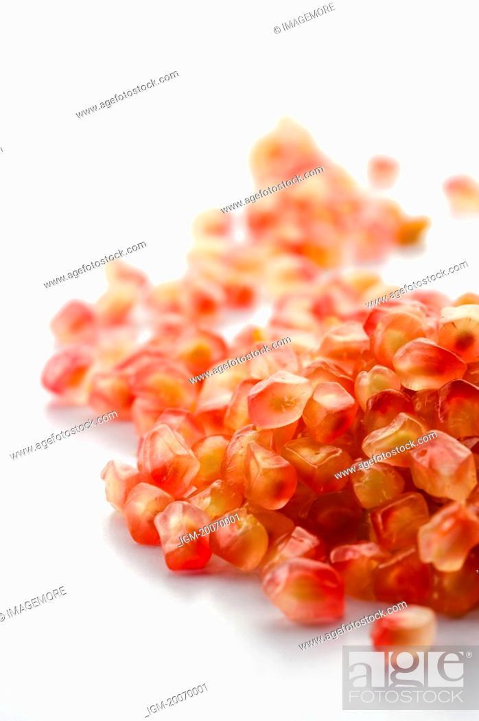 Stock Photo: Pomegranate, seeds.