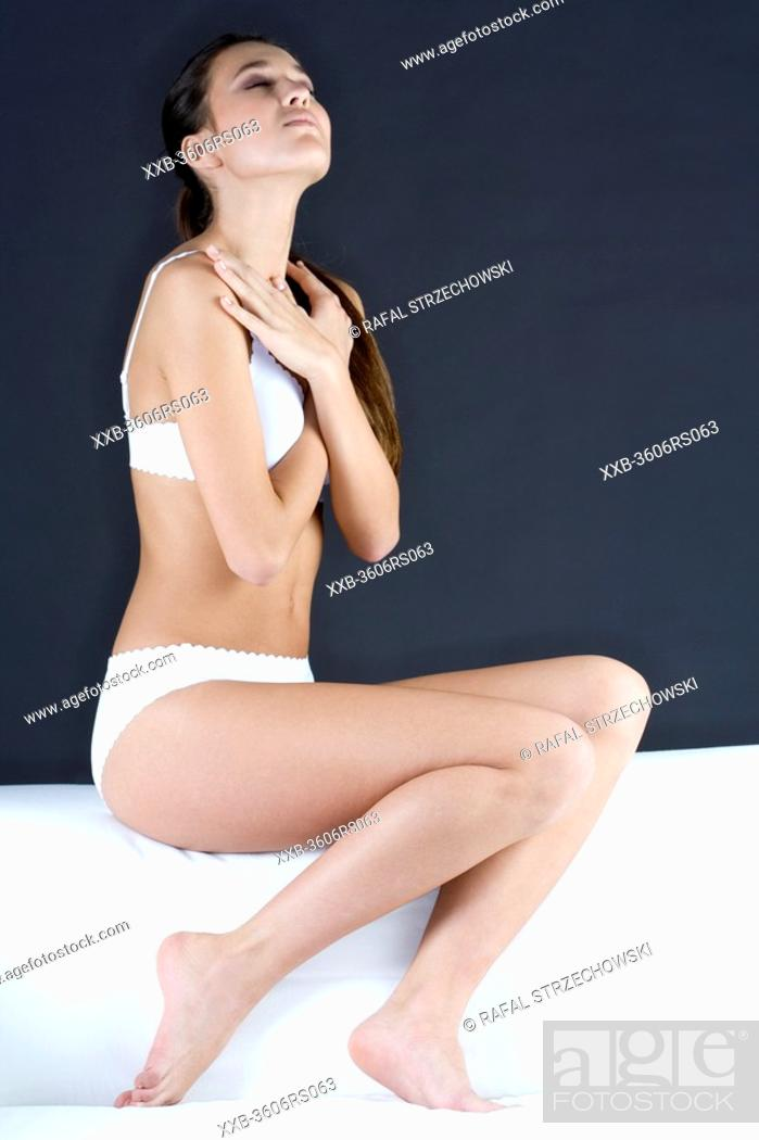 Stock Photo: young woman with great body.