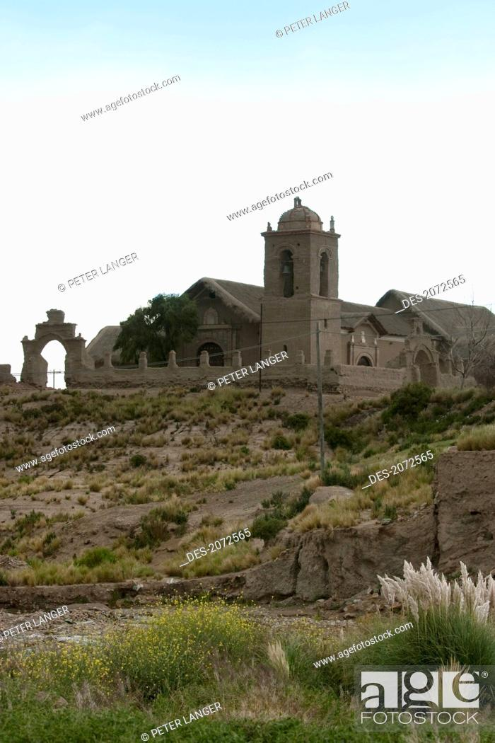 Stock Photo: Church Of Sepulturas, Oruro Department, Bolivia.