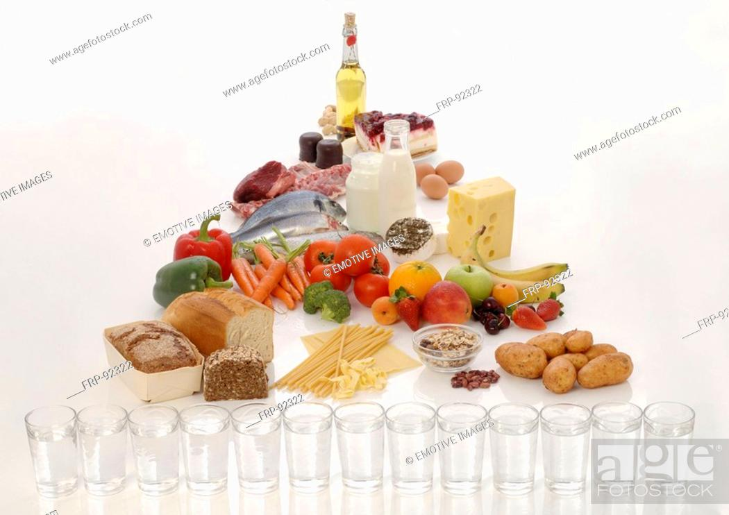 Stock Photo: Eating a balanced diet.