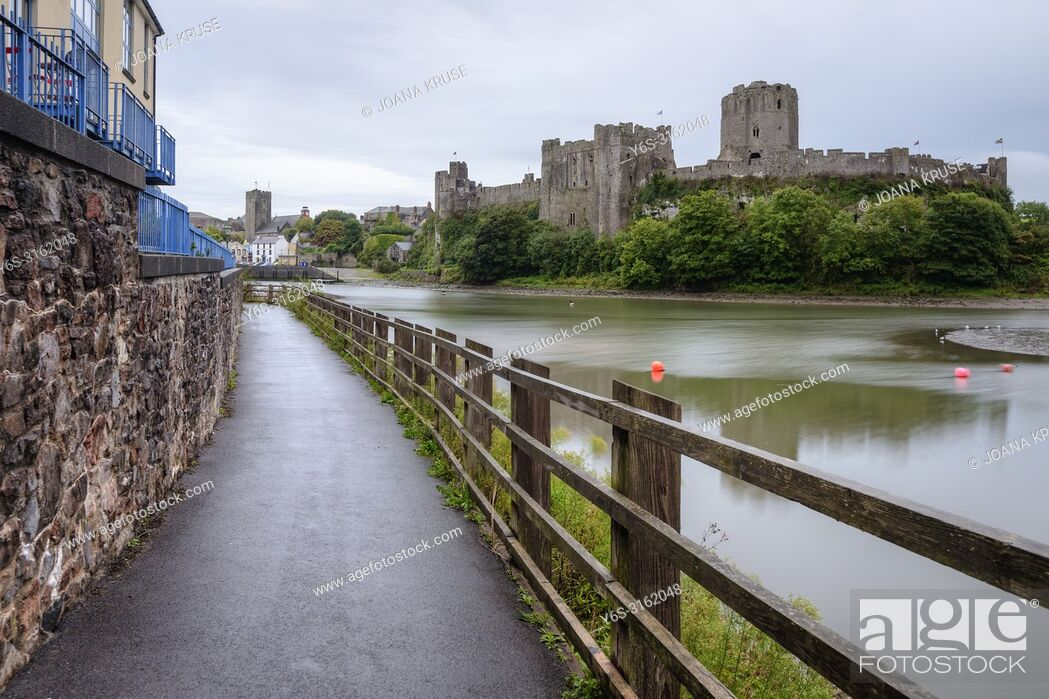 Stock Photo: Pembroke Castle, Pembrokeshire, Wales, UK, Europe.