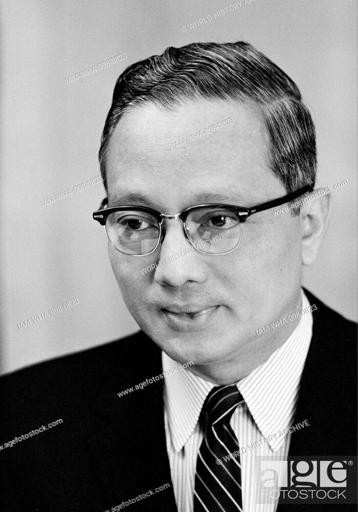Stock Photo: U Thant (1909 – 1974), a Burmese diplomat and the third Secretary-General of the United Nations from 1961 to 1971, the first non-European to hold the position.