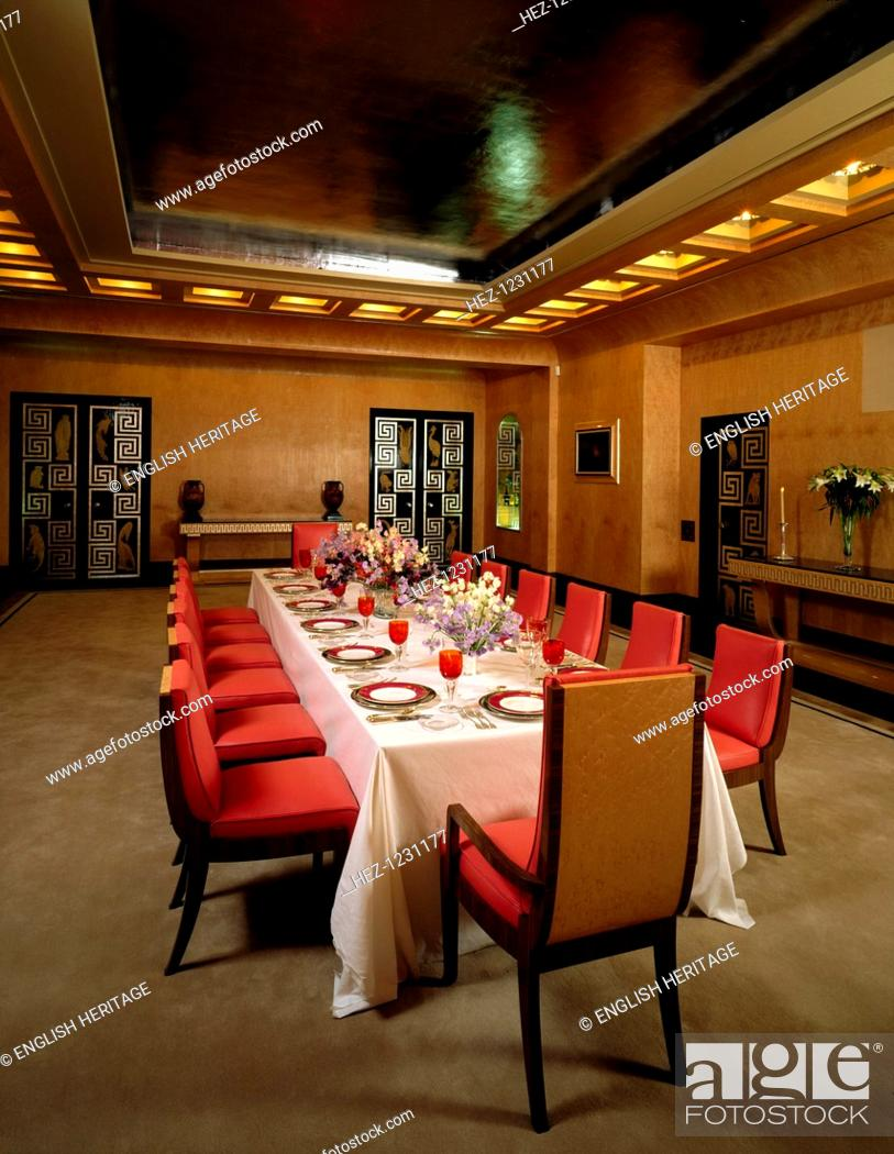 The Dining Room At Eltham Palace Greenwich London Set Up For A
