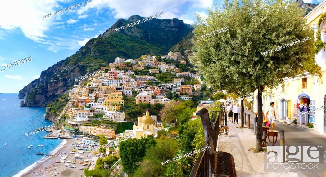 Stock Photo: Positano, Amalfi Coast, Italy.
