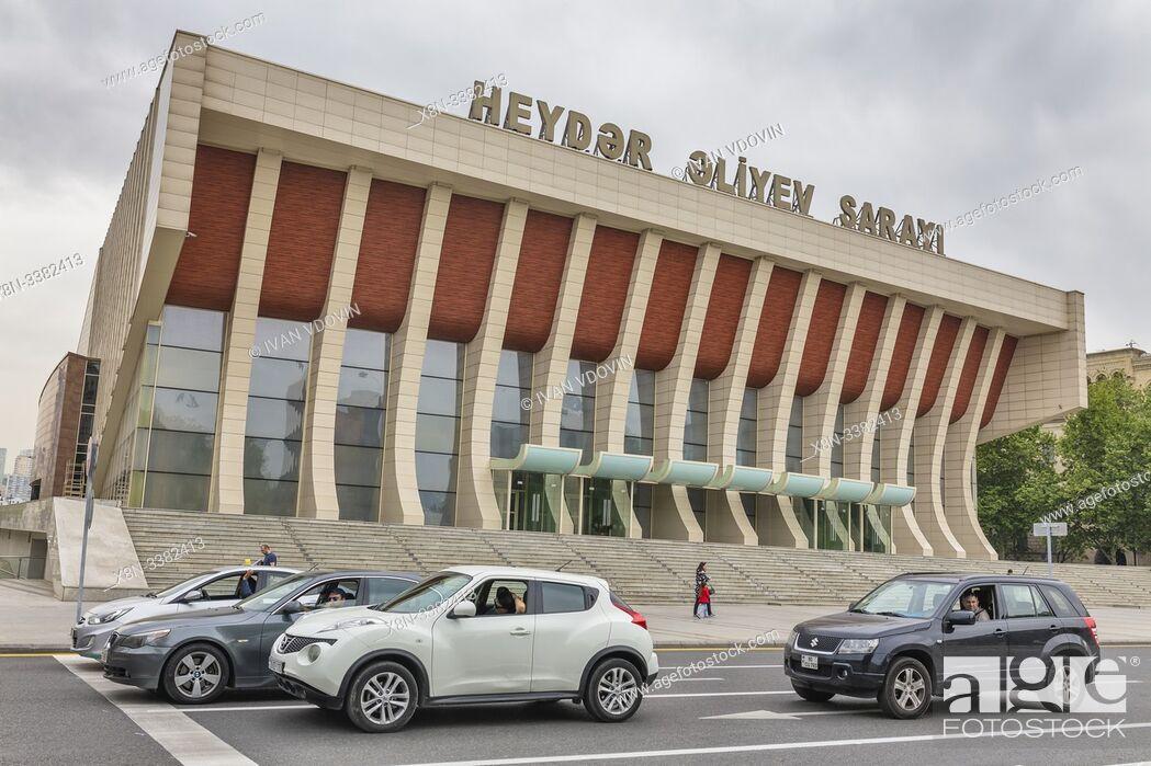 Stock Photo: Heydar Aliyev Palace, Baku Palace, Concert hall, Baku, Azerbaijan.