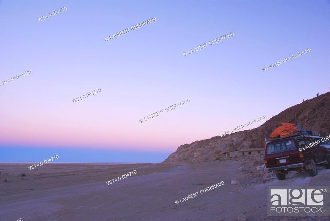 Stock Photo: Salar of Uyuni, Desert of Lipez, Department of Potosi, Sud Lipez Province, La Paz, Bolívia.