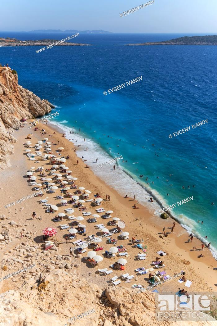 Imagen: The number one beach in Turkey, Kaputas beach in turqouise coast.