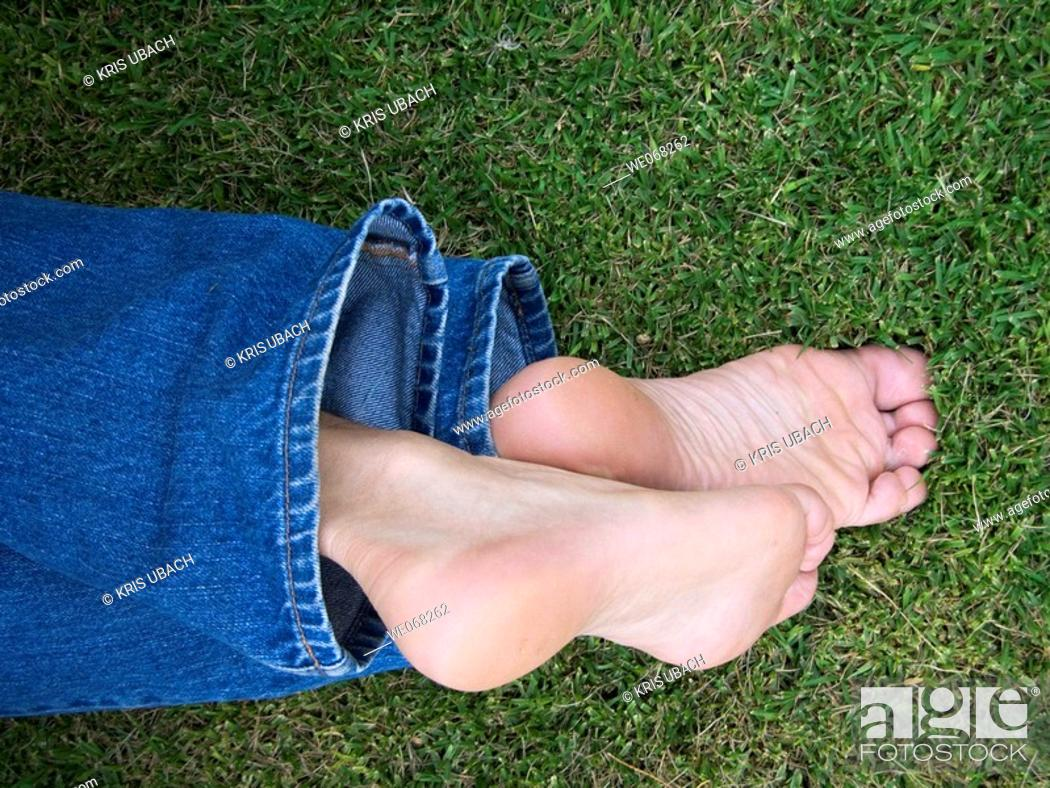 Stock Photo: Man's feet.