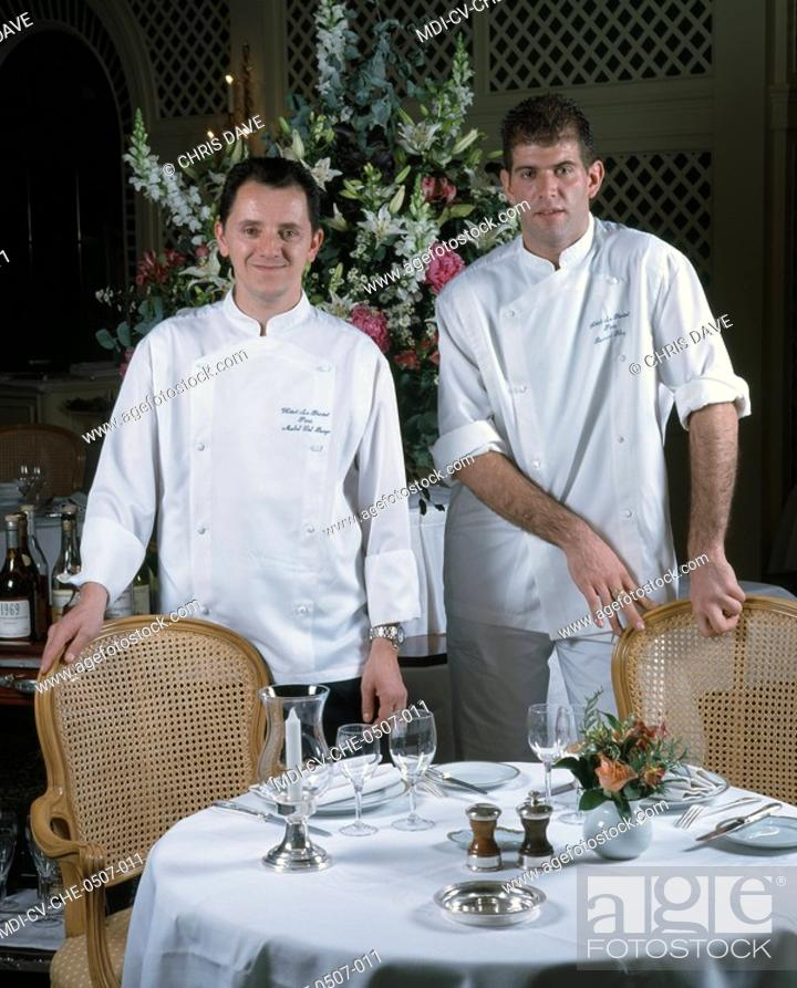 chief michel del burgo and the chief pastry bertrand bluy - hotel restaurant le bristol