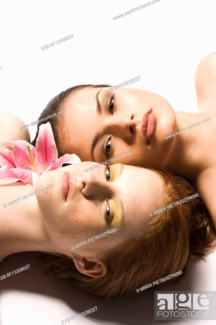 Stock Photo: two young woman.