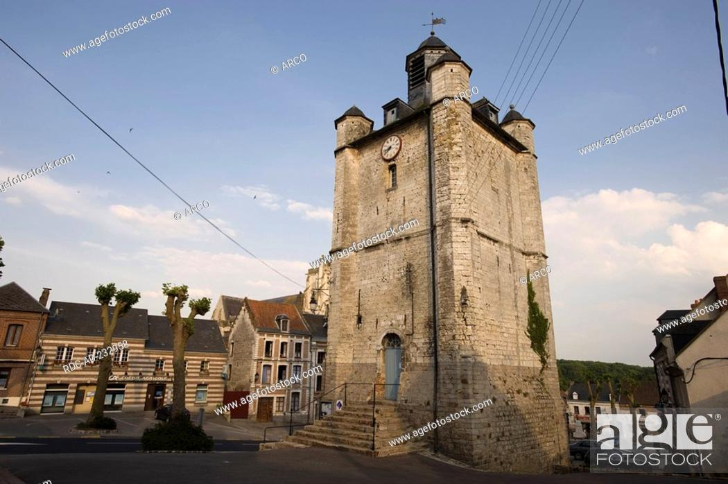 Bell tower, Beffroi, Saint Riquier, Nord Pas de Calais