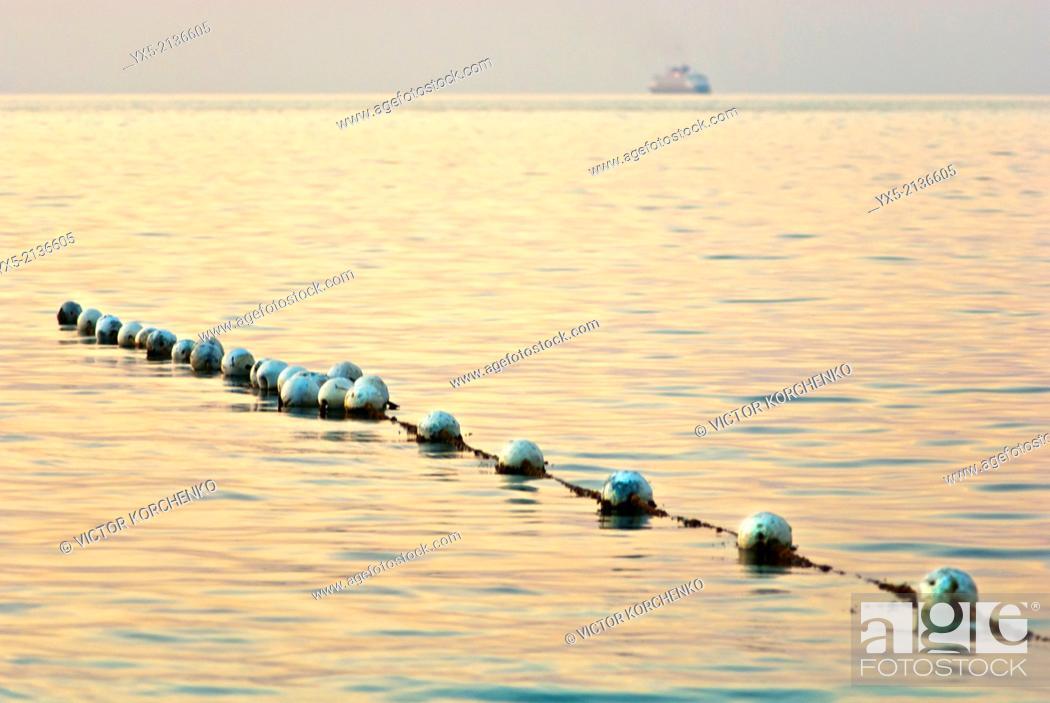 Stock Photo: Buoys on the beach near Nassau, Banhamas.