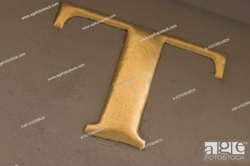 Stock Photo: letter, cut out, formed, stencil, language, script.