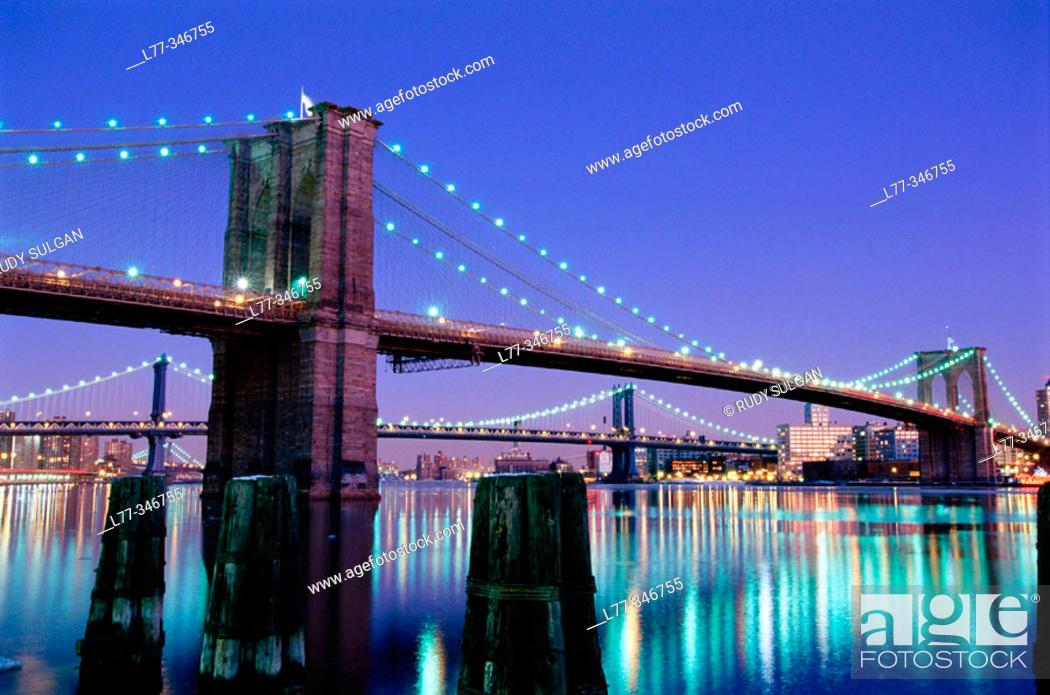 Stock Photo: Brooklyn Bridge. New York City, USA.