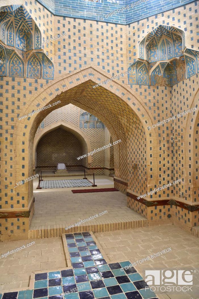 Imagen: Uzbekistan, Autonomous republic of Karakalpakstan. Nukus region, Nazlimkhan Sulu mausoleum (12th-14th C).