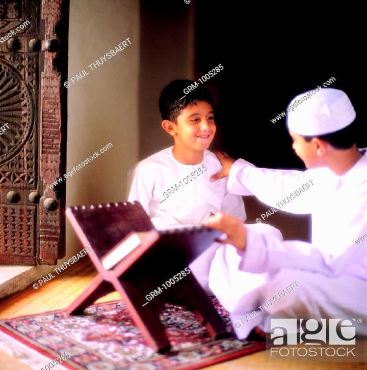 Stock Photo: Ramadan: Reading the Quran.