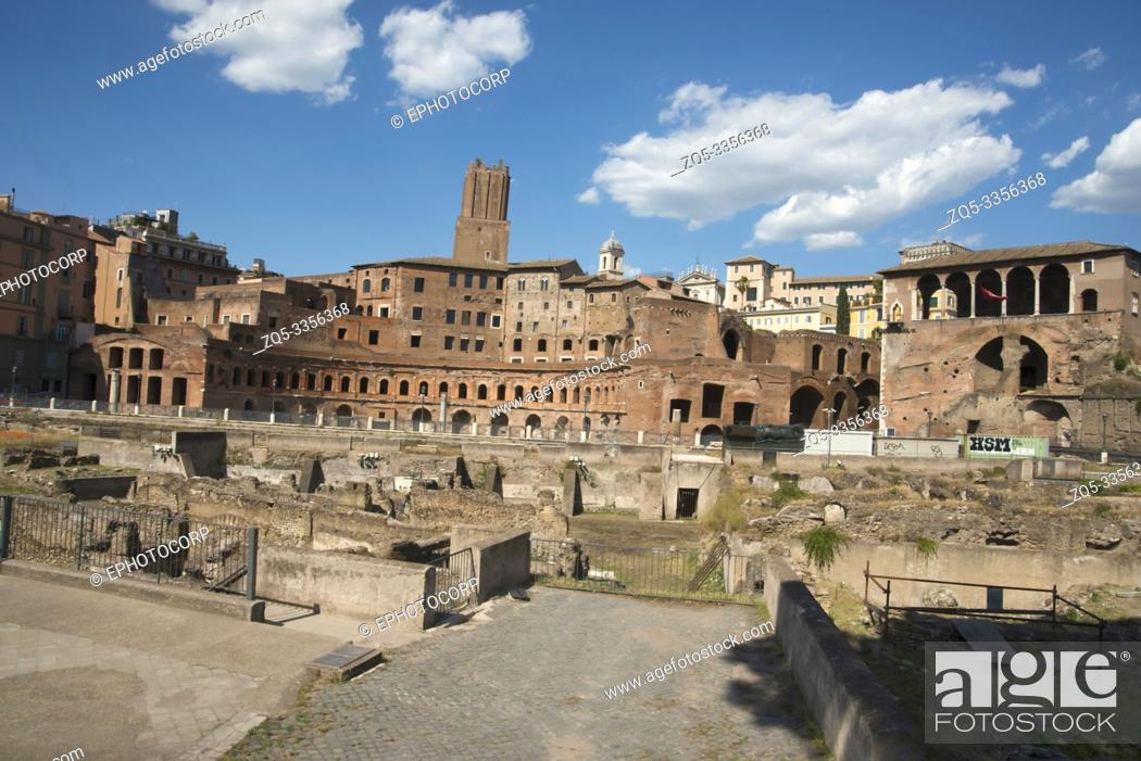 Stock Photo: Roman forum, Roman ruins, surrounded by the remnants of ancient government buildings, Rome.