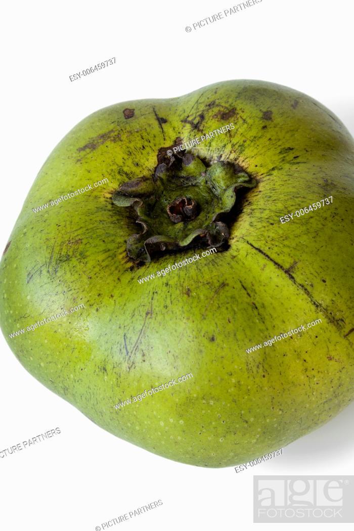 Photo de stock: Fresh black sapote fruit on white background.