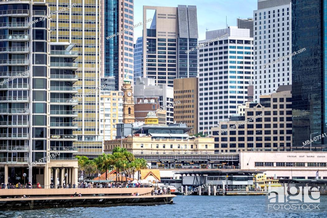 Stock Photo: Sydney Harbour, skyline.