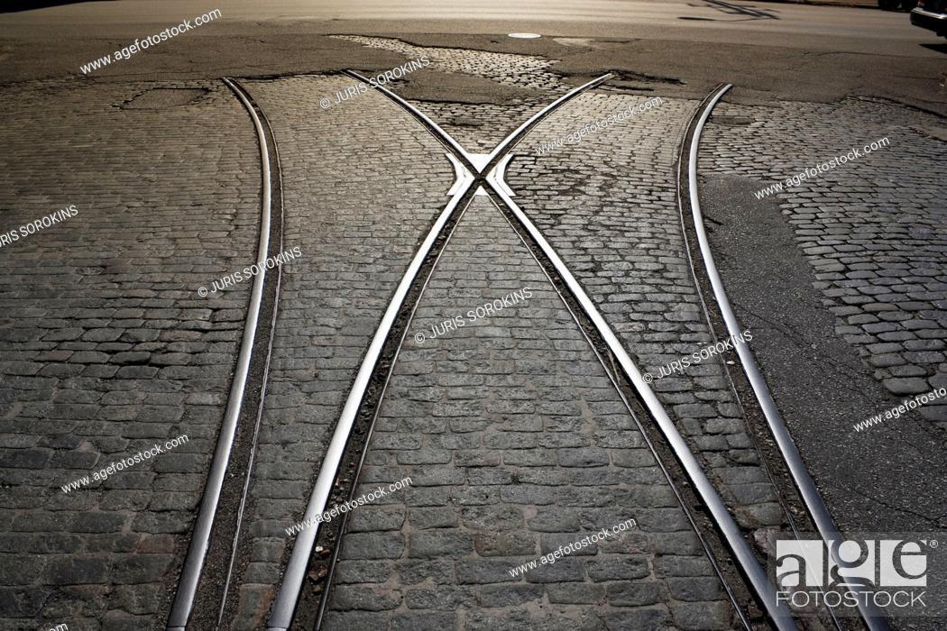 Stock Photo: Tram tracks.