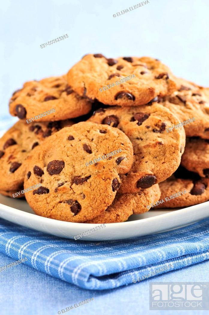 Stock Photo: Chocolate chip cookies.