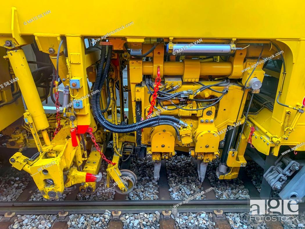 Stock Photo: Modern Train Machinery in Switzerland.