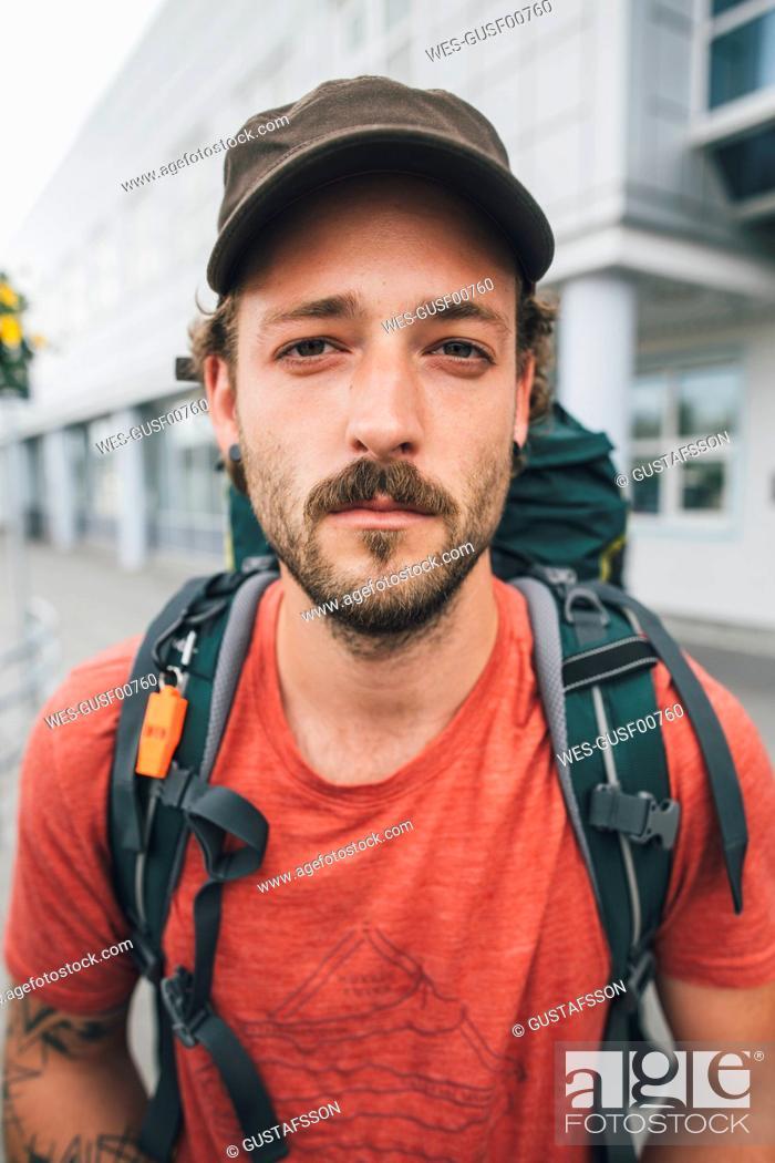 Photo de stock: Portrait of a man travelling the Lofoten.