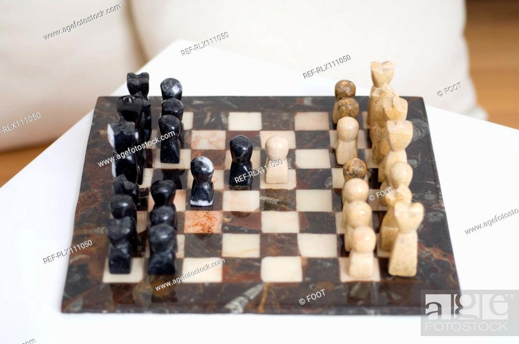 Stock Photo: Close up of chess board.