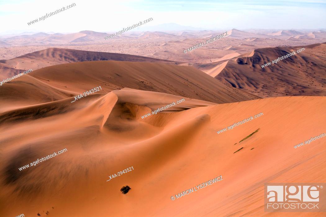 Stock Photo: Dune landscape of Namib desert, Soussuvlei, Namib-Naukluft National Park, Namibia.