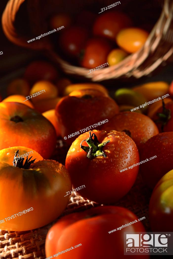 Stock Photo: tomatoes on the table.