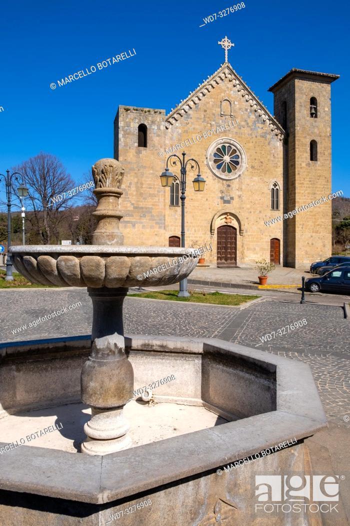 Stock Photo: San Salvatore church in Bolsena, near Bolsena lake, Lazio, Italy.