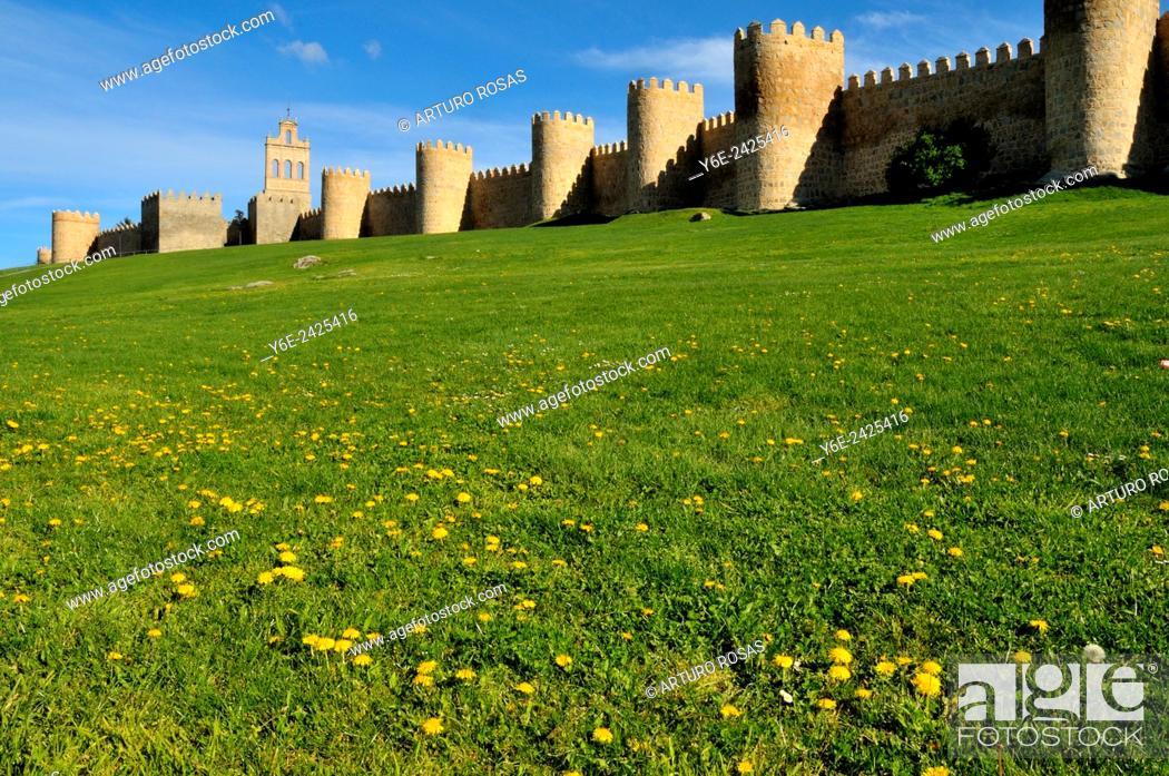 Stock Photo: Avila walls.