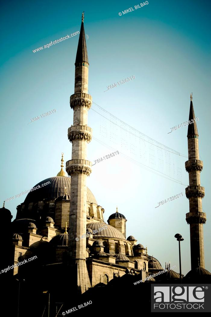 Stock Photo: The Yeni Camii, The New Mosque or Mosque of the Valide Sultan  Istanbul, Turkey.