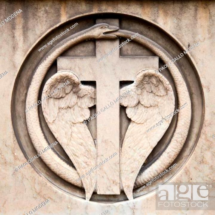 Stock Photo: Cemetery architecture - Europe.
