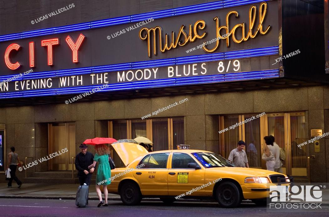 Stock Photo: Radio City Music hall  51 St at Sixth Av, New York City, USA.