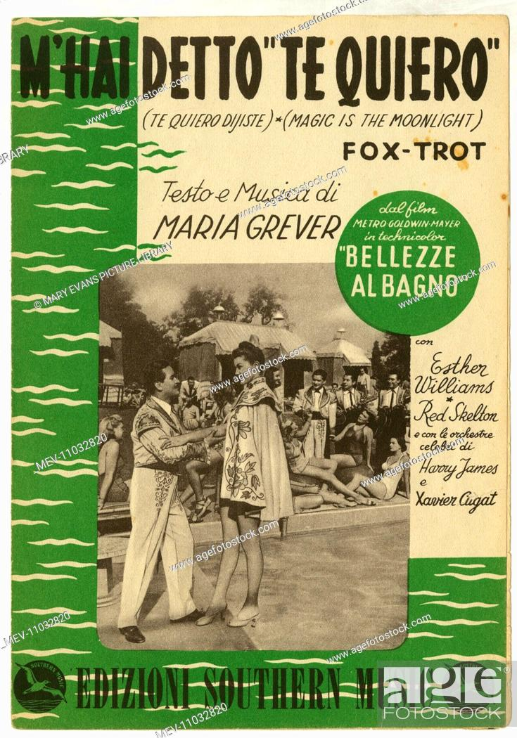 Music cover, Italian version of a song from the MGM film, Bathing ...