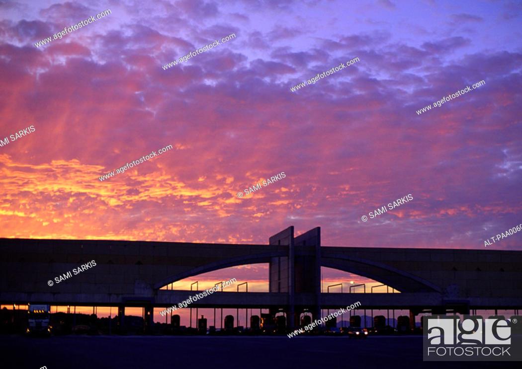 Stock Photo: Bridge during sunset.