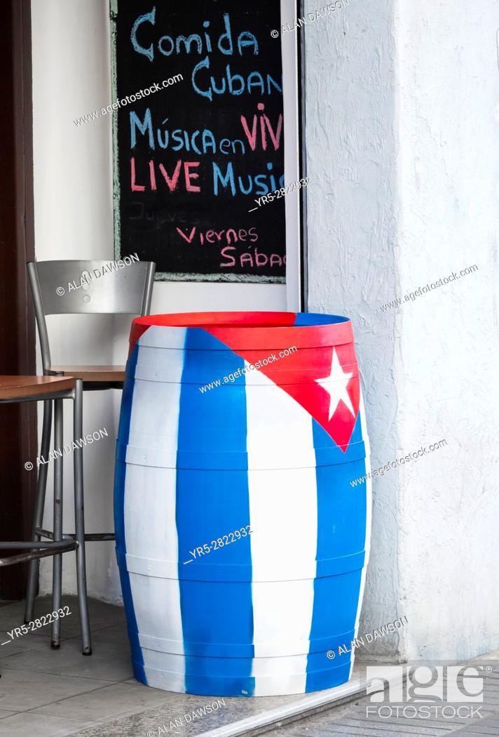 Stock Photo: Cuban bar in Las Palmas, Gran Canaria, Canary Islands, Spain.