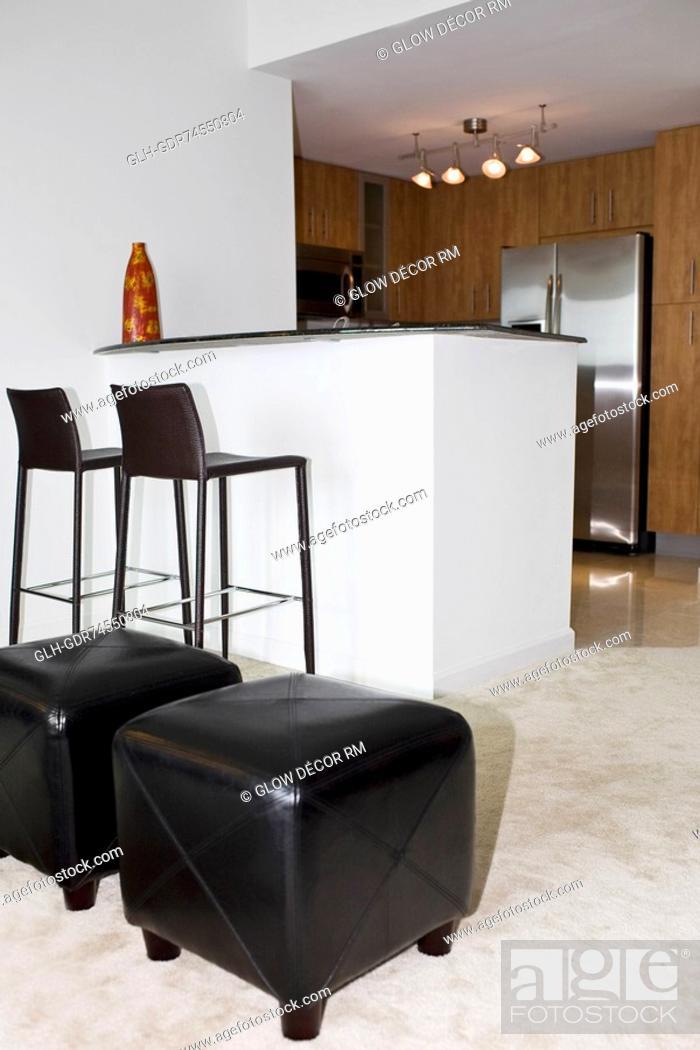 Photo de stock: Interiors of a loft apartment.
