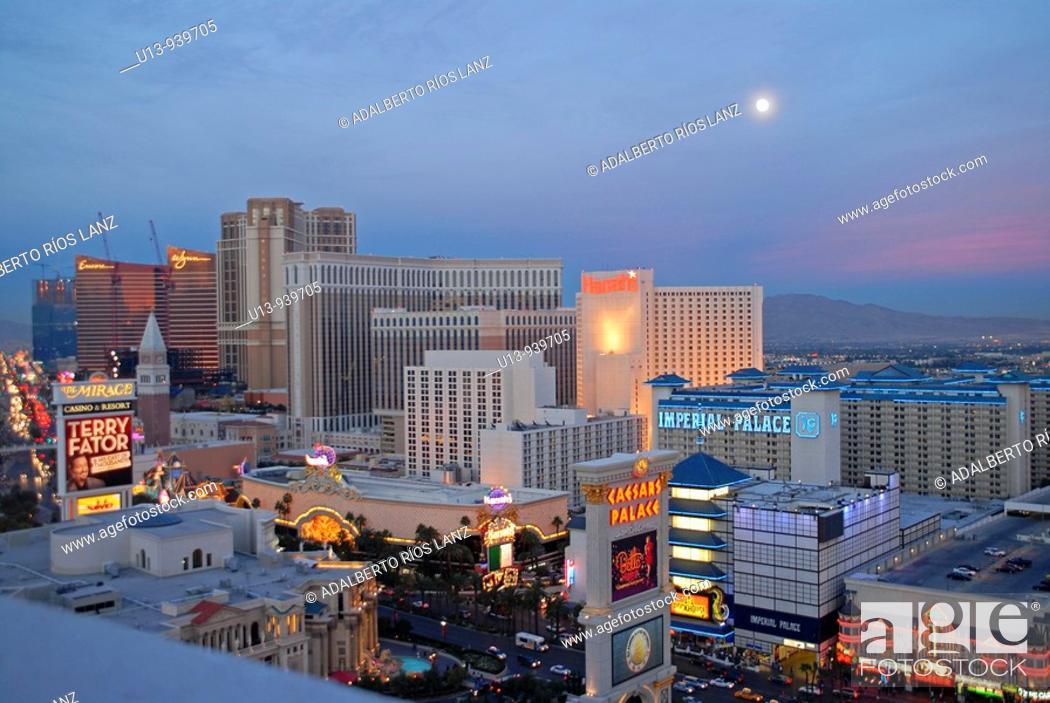 Stock Photo: Las Vegas Strip at Sunset.
