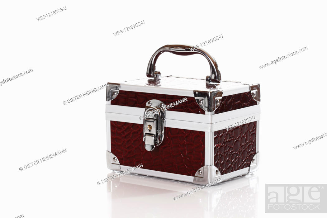 Stock Photo: Beauty case against white background.