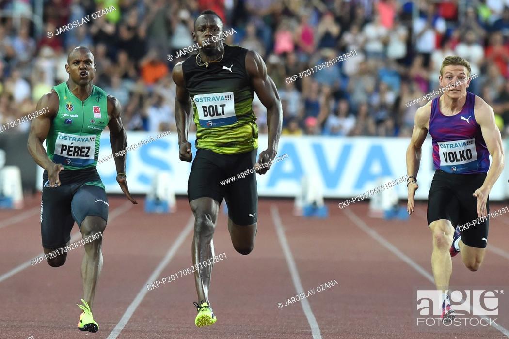 9573bf30069 Jamaican sprinter Usain Bolt (center)