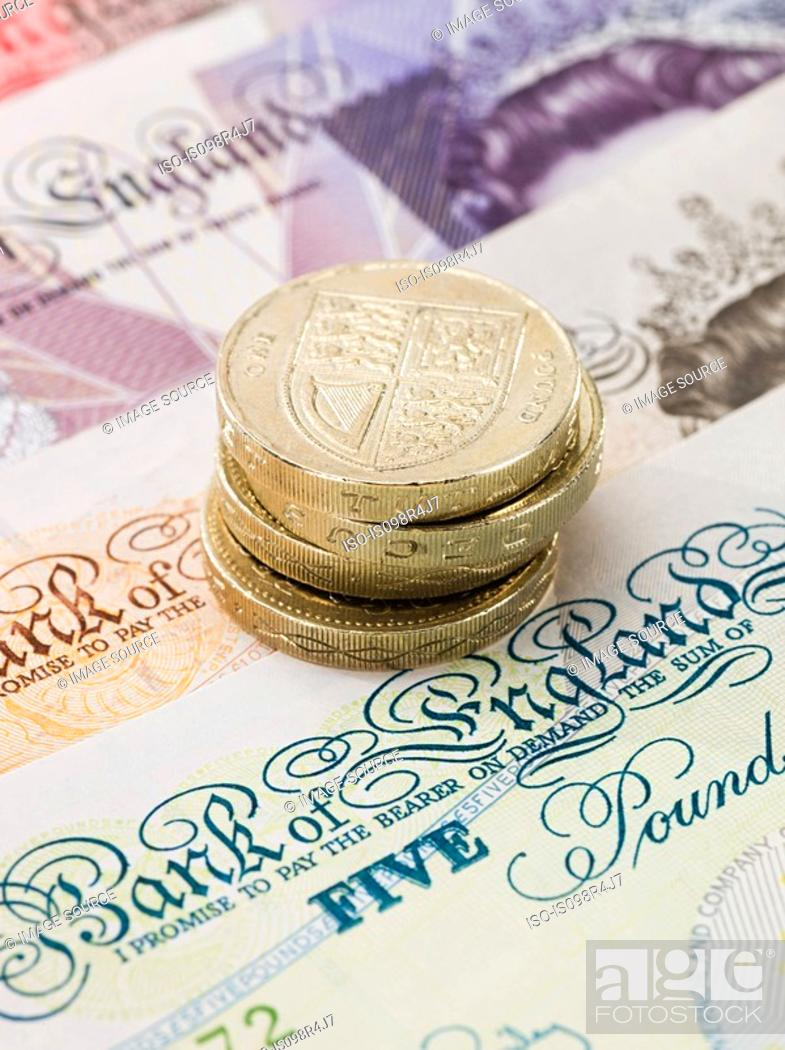 Stock Photo: British currency.