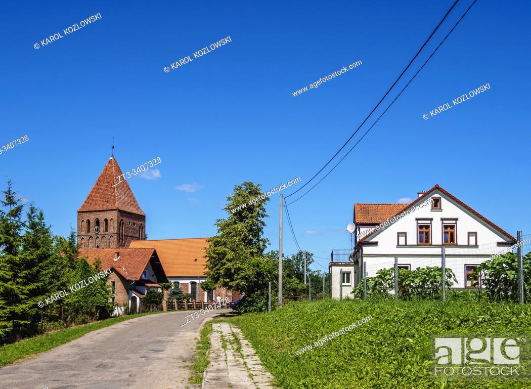 Imagen: Sacred Heart of Jesus Church in Jelonki, Warmian-Masurian Voivodeship, Poland.