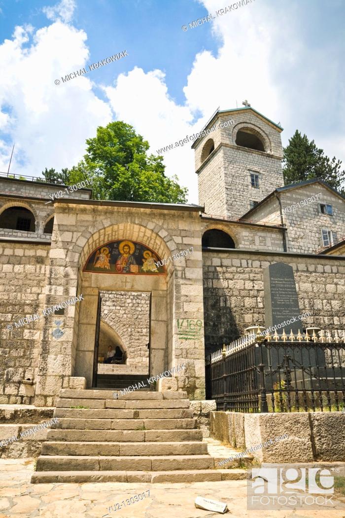 Stock Photo: Entrance to Cetinje Monastery in Cetinje, Montenegro.